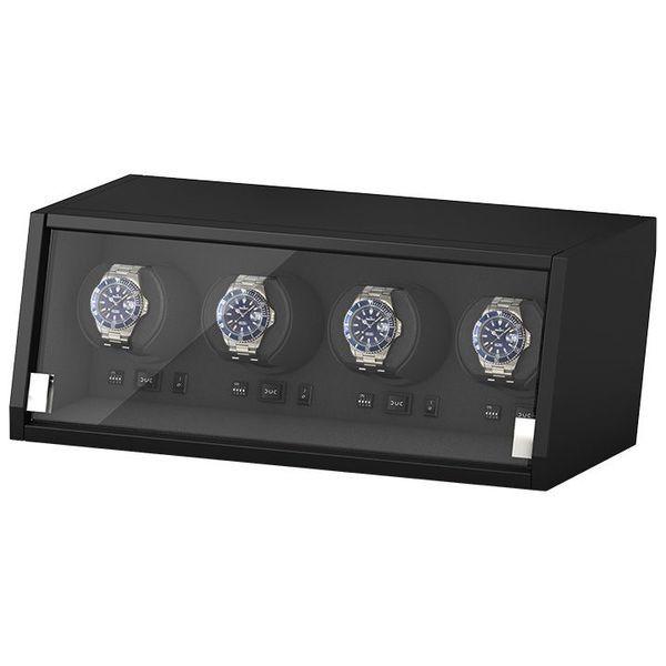 Кутия за самонавиващи се часовници Beco Technic Boxy Castle 4 Matt Black Wood